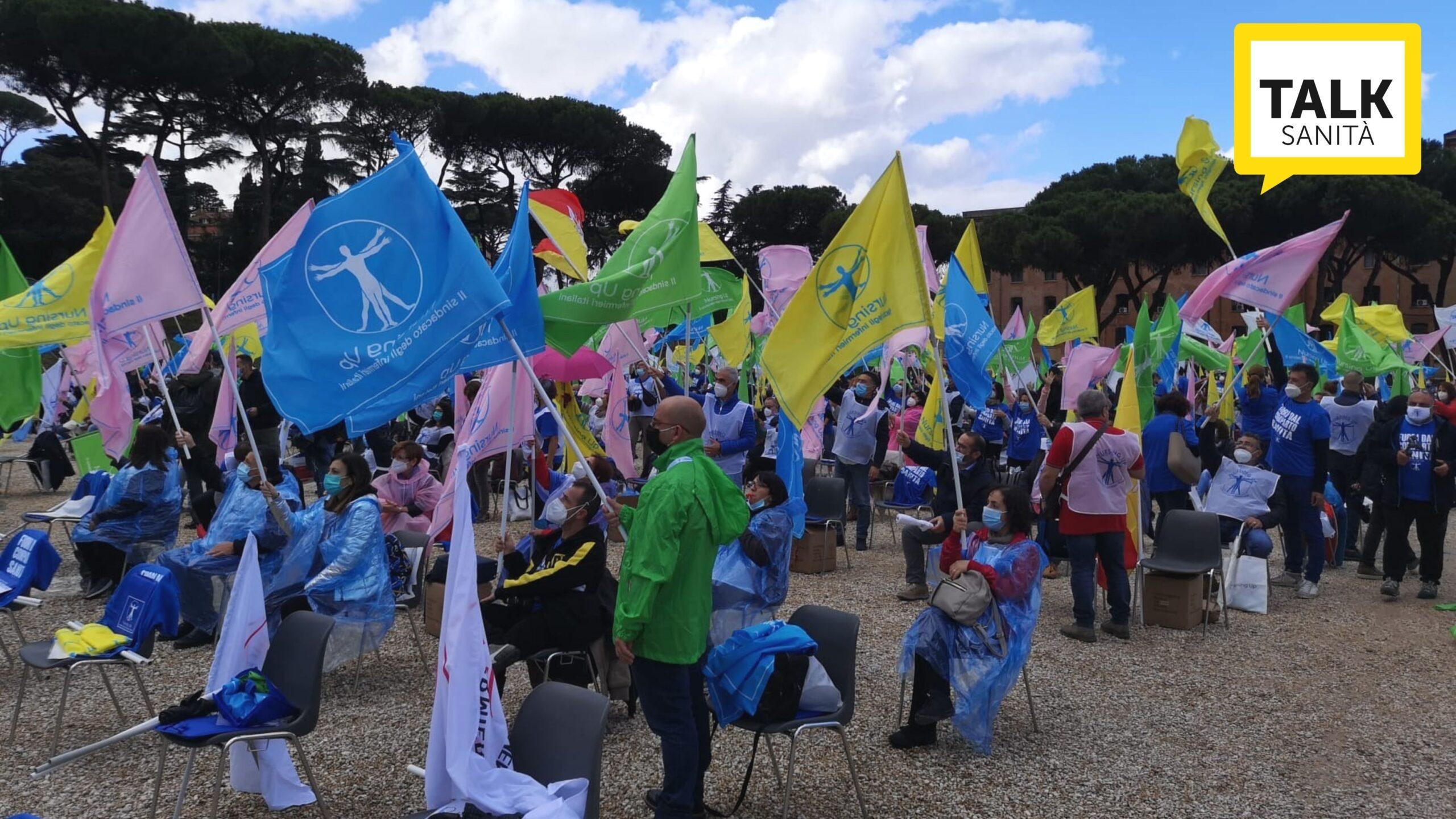 manifestazione degli infermieri NURSING UP